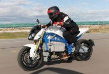 تصویر از موتور سیکلت برقی بی ام و E-Power Roadster