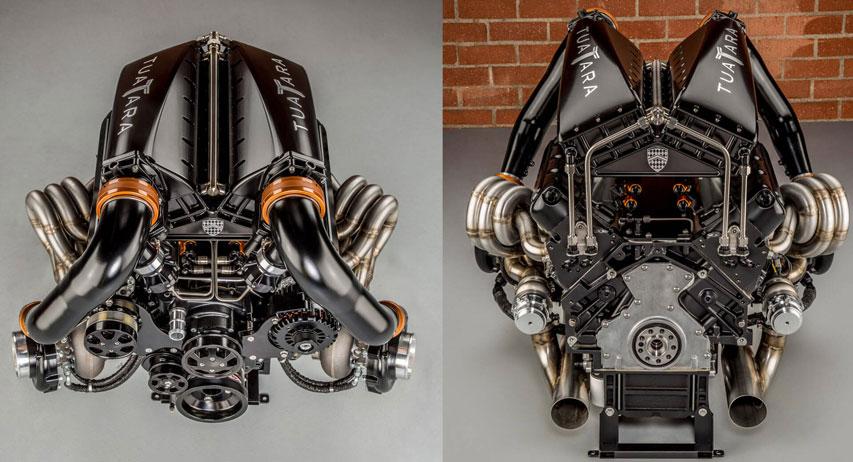 موتور و متعلقات ماشین SSC Tuatara