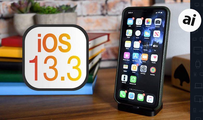تغییرات ios 13.3