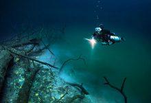 تصویر از رودخانه ای در زیر آب