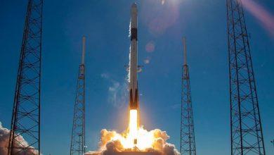 تصویر از انفجار آزمایشی فالکون 9 توسط ناسا و اسپیساکس