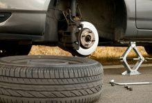 تصویر از آموزش تعویض لاستیک خودرو + عکس+فیلم