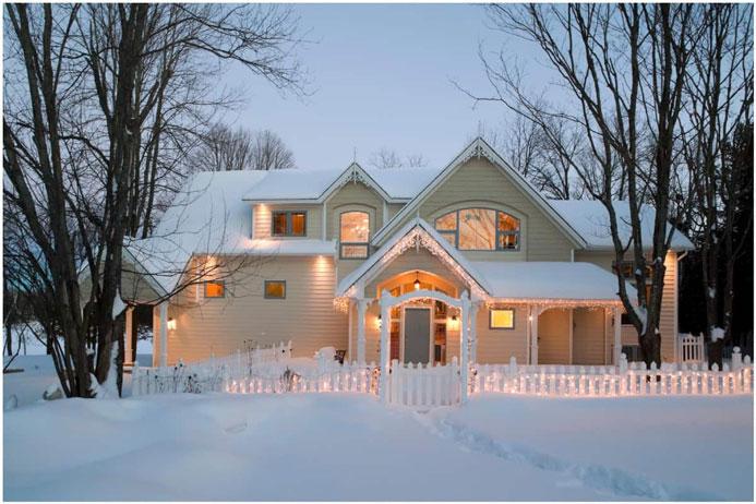 نکات فنی خانه در هوای زمستانی