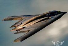 تصویر از بمب افکن B-2 spirit همانند یک روح !
