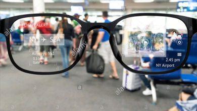 تصویر از عینک واقعیت افزوده