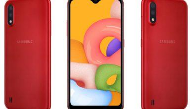 تصویر از گوشی ارزان قیمت Galaxy A01 رونمایی شد