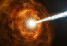 تصویر از درخشان ترین نور جهان  GRB 190114C