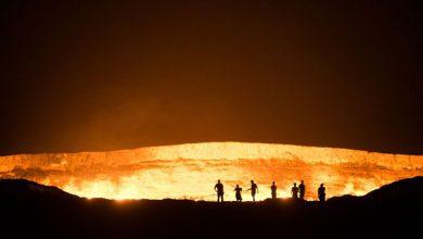 تصویر از یکی از مکانهای عجیب در ترکمنستان دروازه جهنم