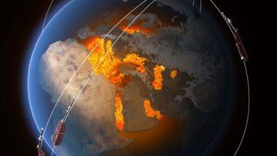 تصویر از میدان مغناطیسی زمین در حال کاهش است
