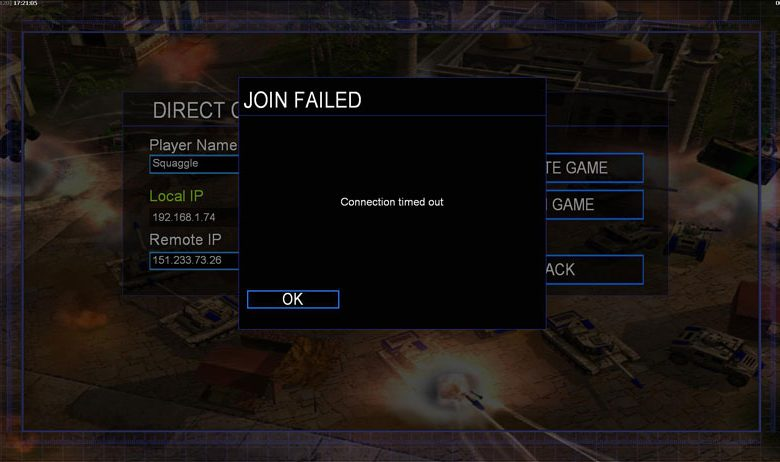 حل مشکلات بازی تحت شبکه جنرال 2|حل مشکل connection timed out در general 2 zero hour