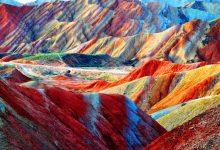 تصویر از کوه های رنگین کمان شگفت انگیز Zhangye Danxia