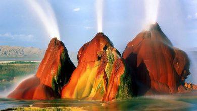 تصویر از آبفشانهای فلای نوادا در امریکا (Fly Geyser)