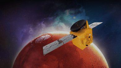 تصویر از کاوشگر امید امارات متحده عربی اکنون در مدار مریخ است