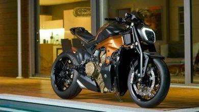 تصویر از موتورسیکلت Ducati V4 Penta ساخته شده به صورت سفارشی